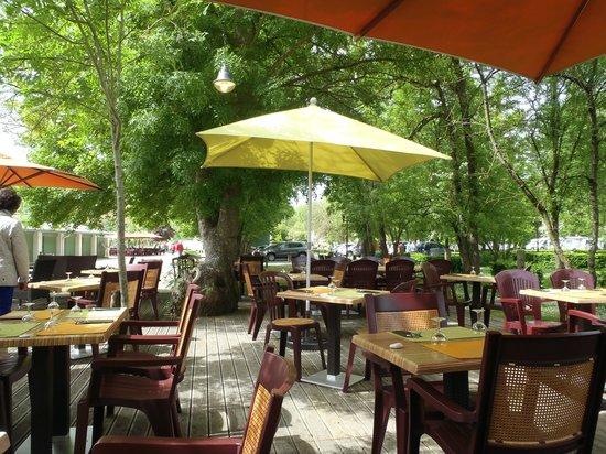 La Brasserie de la Repentie: vue de la terrasse