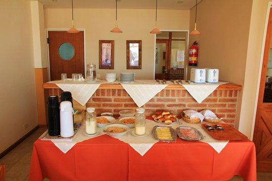 Hosteria Solar de la Costa: Buffet du petit déjeuner