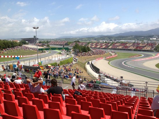 Montmelo, Spain: The view from our seats in stand L