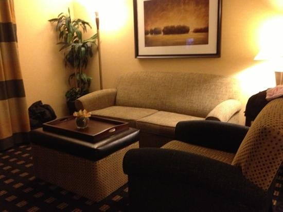 Homewood Suites by Hilton Toronto Airport Corporate Centre: sitting/fold out sofa bed