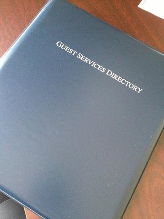 Holiday Inn Express Hotel & Suites Williamsport : welcome binder