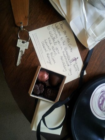 Queensberry Hotel: Chocolate gift