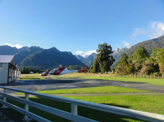 Fox Glacier Guiding: The Helicopter pad