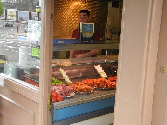 Ekin Restaurant: The entry way kitchen