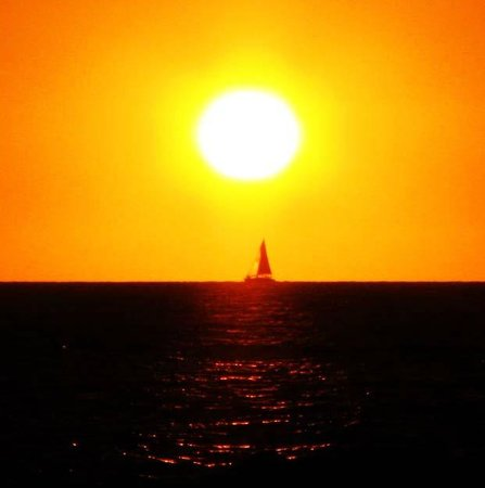 The Westin Resort & Spa, Puerto Vallarta: View of the sunset as a sailboat goes by