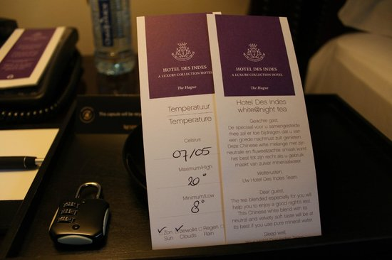 Hotel Des Indes, a Luxury Collection Hotel: this is customer service, folks!