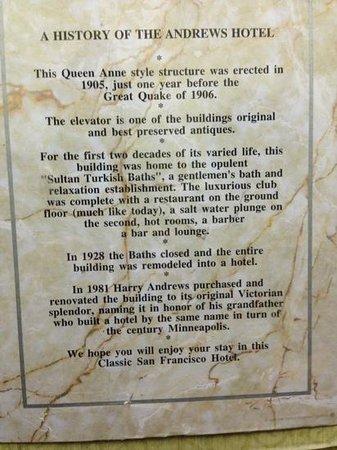 Andrews Hotel: History