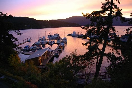 Brentwood Bay Resort & Spa: Evening sunset