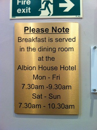 Excelsior Hotel London: ask ahead of time where exactly the Albion House Hotel is!