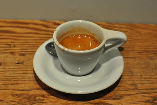 My lovely espresso at Cafe Myriade