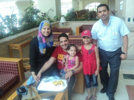 "Sharm El Sheikh Marriott Resort: Me, My Familly & The AMAZING Desk Manager ""Islam Shaheen"""