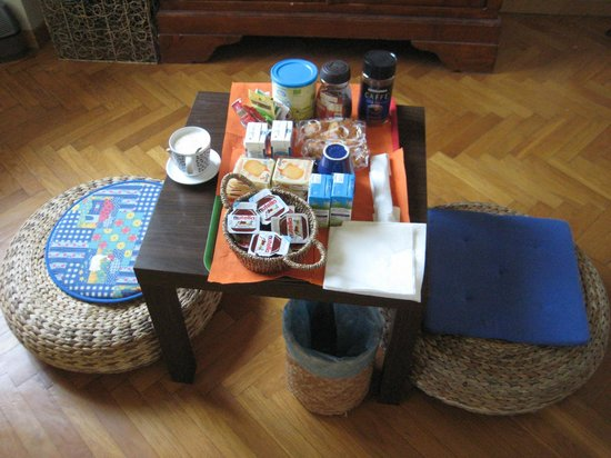 Il Magnifico B&B: breakfast laid out in your room before you arrive