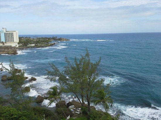 The Condado Plaza Hilton: View of the ocean from our room