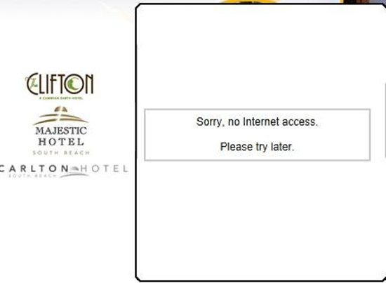 Clifton Hotel South Beach: Zero Internet - zero speed