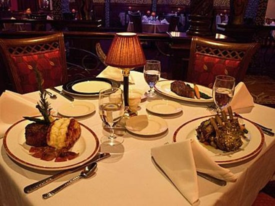 Russell's Steaks: Tables set for Royalty