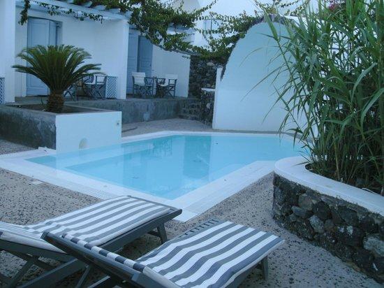 Santorini Kastelli Resort: Seni Private pool