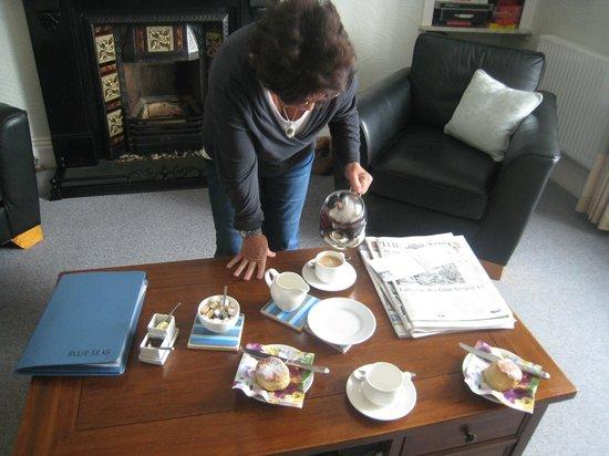 Blue Seas Hotel : Afternoon tea on arrival