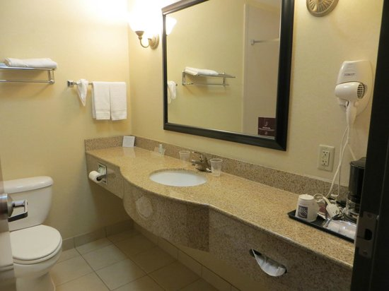 Sleep Inn & Suites: Bathroom area.