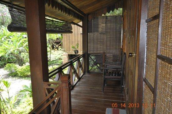 Auberge Sala Inpeng (Mekong Riverside Inn): balcony