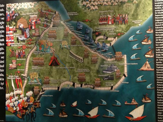 Panorama 1453: Diagram of the siege of Istanbul