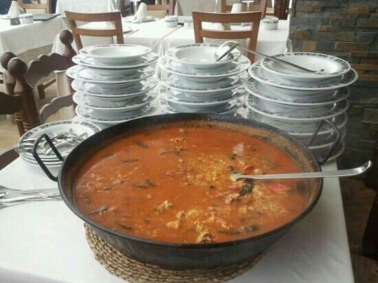 Restaurante Marisqueria Arroceria Casa Santi: arroz con bogavantes, casa santi