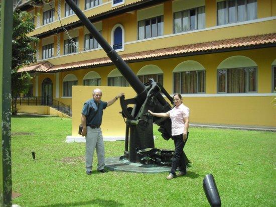En el jardin del hotel Melia Panama Canal