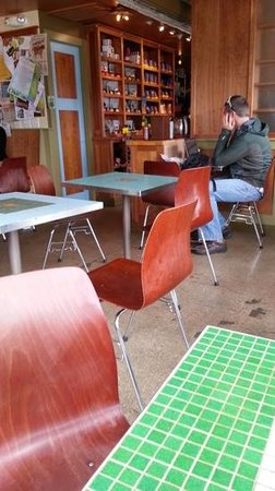 Water Street Coffee Joint: Interior, with tables and comfortable chairs