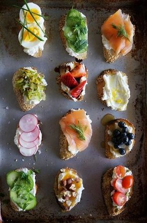 """Table Manners: assorted crostini bread """"tapas style"""""""