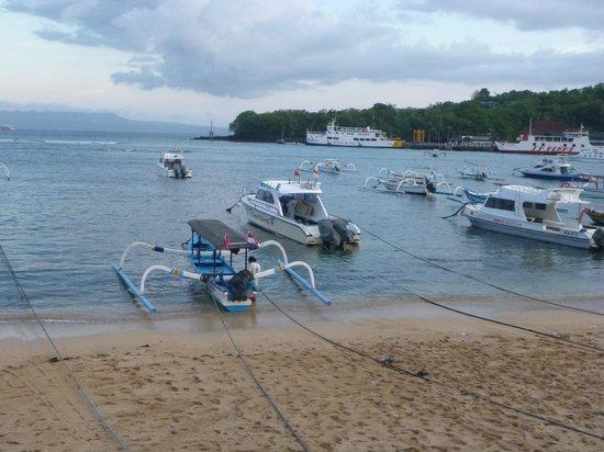 Kerti Beach Inn: View from the Restuarant