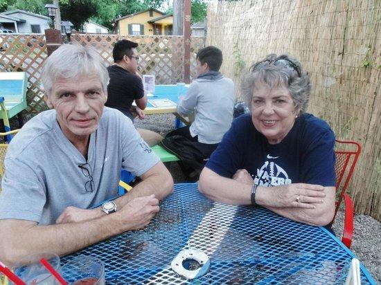 Rio's Brazilian Cafe: Enjoying beautiful weather & good food
