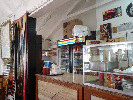 Roti King: The bar area