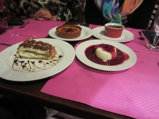 Au Beaujolais: Our favorite dessert.