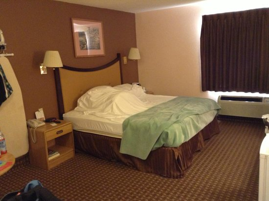 Lake Havasu Travelodge: Bed was comfortable and pretty clean.