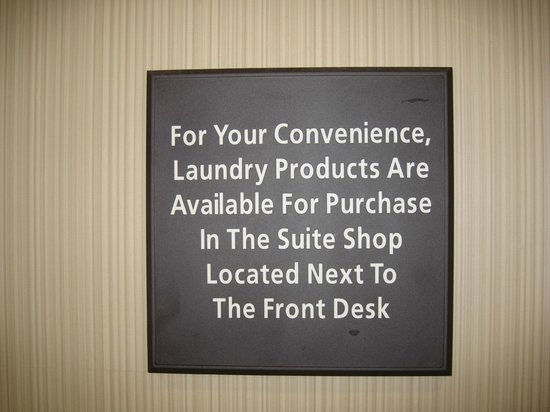 Hampton Inn & Suites Banning-Beaumont: Guest Laundry Room signage