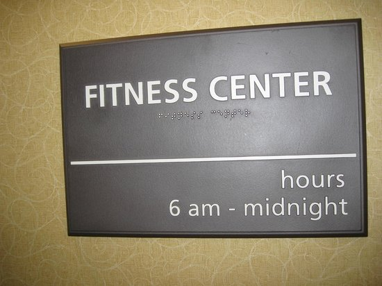 Hampton Inn & Suites Banning-Beaumont: Fitness Center signage