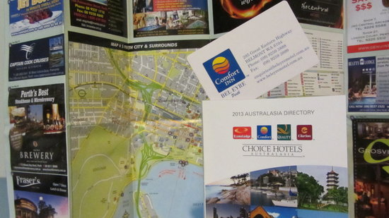 Comfort Inn Bel Eyre Perth: Map & Card