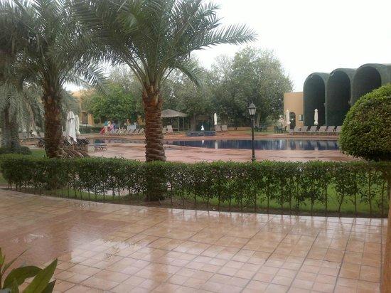 Golden Tulip Al Jazira: rain and pool