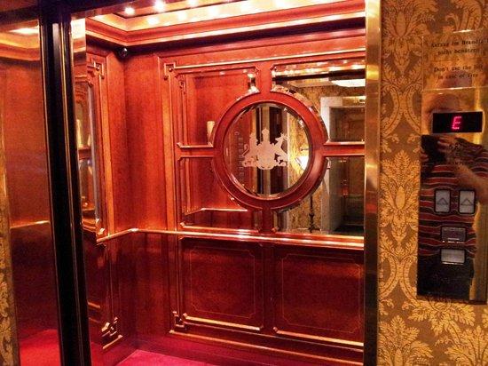 Hotel Imperial Vienna: Оформление лифта