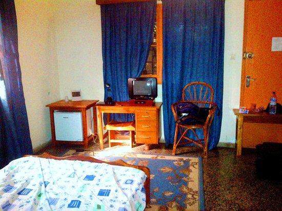 Hotel Restaurant Coté Sud : TV-Fridge in the room