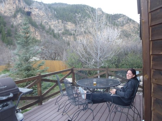Glenwood Canyon Resort: our patio
