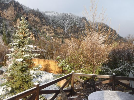 Glenwood Canyon Resort: our view