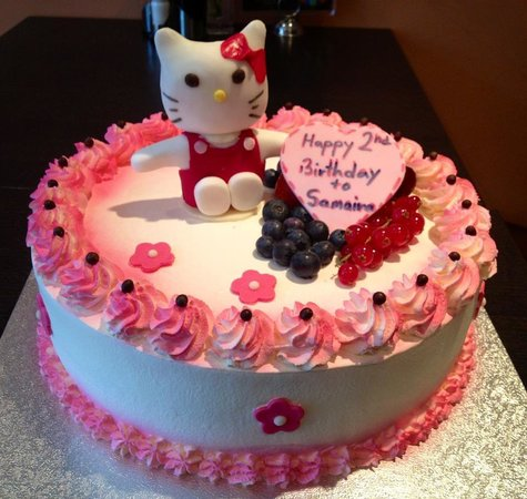 Hello Kitty Cake Picture of Yeti Asian Fusion Restaurant