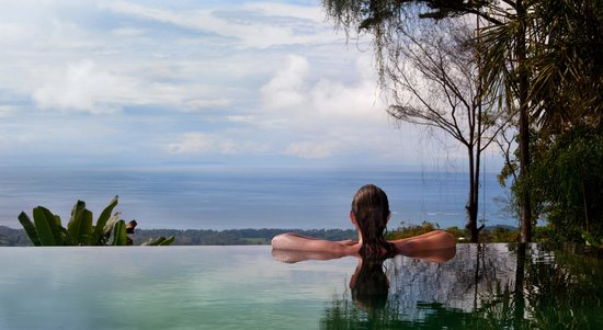 Oxygen Jungle Villas: Enjoying the view from the infinity pool.