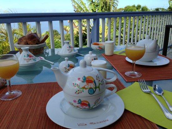 Villa Mascarine : petit déjeuner