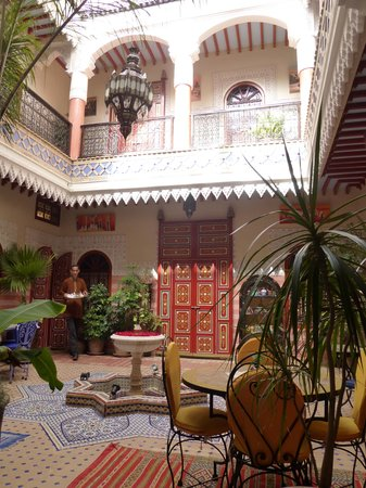 Riad Bleu Du Sud : Innenhof