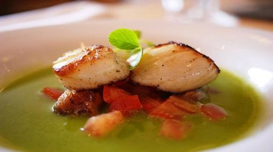 The Galley Restaurant: Hand-dived Scallops