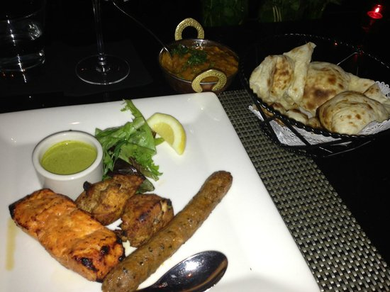 Rasika: Mixed Grill with Truffle Naan