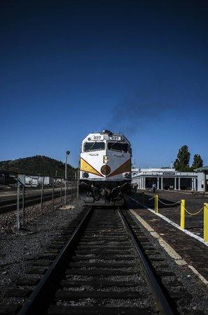 Williams Depot : Beware train coming