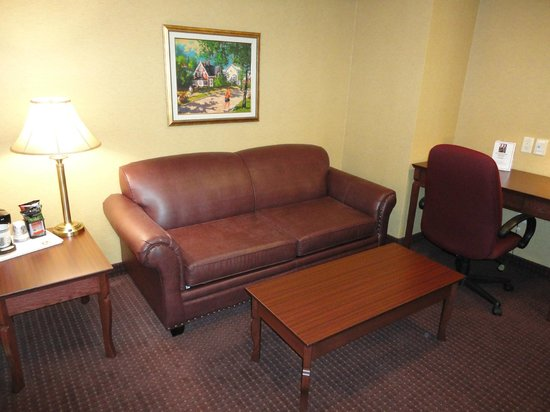 Best Western Plus Fredericton Hotel & Suites : Living room of suite