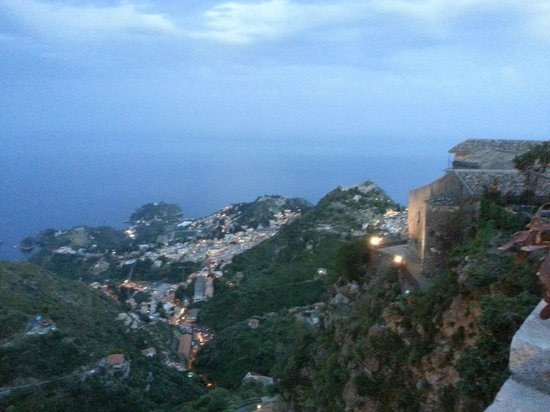 Bocciola : View from Castelmola, where the restaurant is located